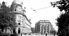 (#12) Skrzyżowanie ul. Starowiślnej z ul. Wielopole, widoczna Poczta Główna