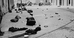 (#65) ul. Lwowska po likwidacji getta krakowskiego, widoczne porzucone pakunki