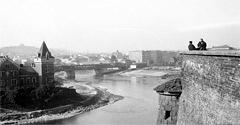 (#75) Willa Rożnowskich, stary most Dębnicki i fragment Wawelu