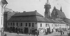 (#92) ulica Krakowska i fragment Placu Wolnica, widoczny kościół Bożego Ciała