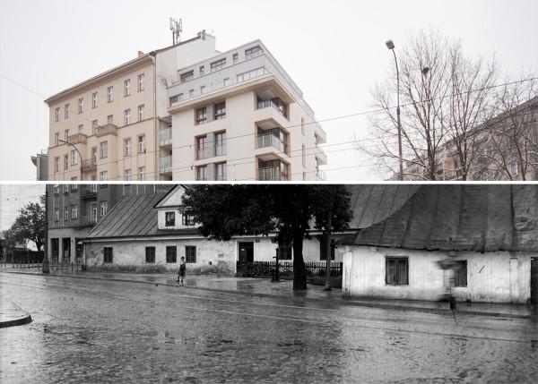 (#44) ul. Tadeusza Kościuszki, widoczne... wiejskie domy - dawno temu