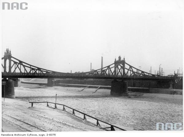Most Krakusa łączący Kraków z Podgórzem. Aktualnie Most Powstańców Śląskich